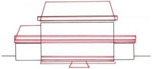 Как нарисовать Особняк поэтапно в 5 шагов 3