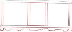 Как нарисовать Вагон поезда поэтапно в 6 шагов 3