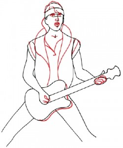 Как нарисовать человека с гитарой поэтапно в 5 шагов 4