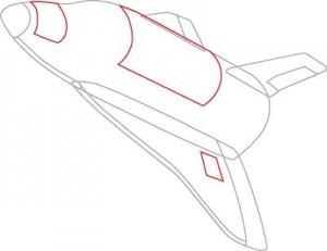 Как нарисовать Ракету поэтапно в 7 шагов 4
