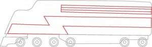 Как нарисовать Поезд поэтапно в 7 шагов 4
