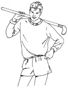 Как нарисовать Хоккеиста поэтапно в 5 шагов 1