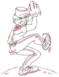 Как нарисовать бейсболиста поэтапно в 5 шагов 5