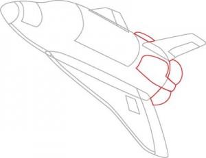 Как нарисовать Ракету поэтапно в 7 шагов 5