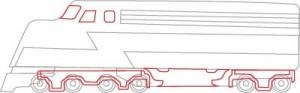 Как нарисовать Поезд поэтапно в 7 шагов 5