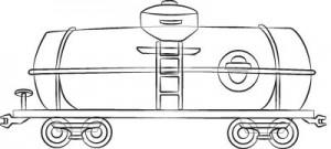 Как нарисовать Цистерну поезда поэтапно в 5 шагов 6