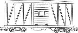 Как нарисовать Вагон поезда поэтапно в 6 шагов 7