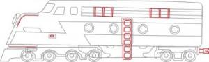 Как нарисовать Поезд поэтапно в 7 шагов 7