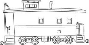 Как нарисовать Тормозной вагон поезда поэтапно в 6 шагов 7