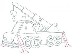 Как нарисовать Автомобильный Кран поэтапно в 10 шагов 10
