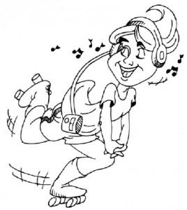 Как нарисовать Девочку на роликах поэтапно в 5 шагов 1