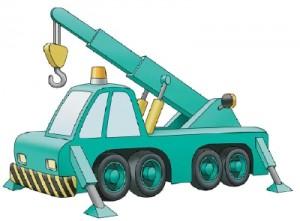 Как нарисовать Автомобильный Кран поэтапно в 10 шагов 1