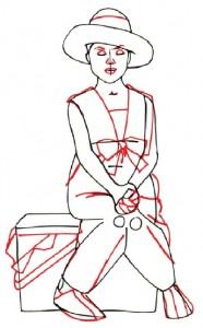 Как нарисовать Девочку с корзинкой поэтапно в 5 шагов 3