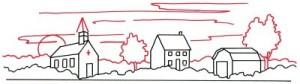 Как нарисовать деревню поэтапно в 5 шагов 3