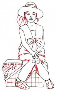 Как нарисовать Девочку с корзинкой поэтапно в 5 шагов 4