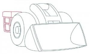 Как нарисовать Снегоуборочную машину поэтапно в 9 шагов 4