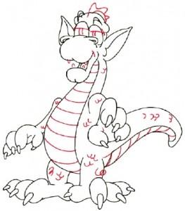 Как рисовать дракона поэтапно в 5 шагов 5