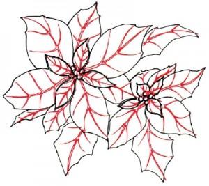 Как нарисовать цветы поэтапно. Молочай (Пуансеттия) в 5 шагов 5
