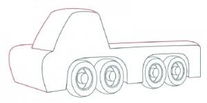 Как нарисовать Автомобильный Кран поэтапно в 10 шагов 5