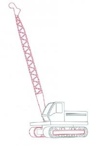 Как нарисовать Буровую машину поэтапно в 11 шагов 5