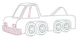 Как нарисовать Автомобильный Кран поэтапно в 10 шагов 6