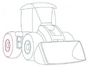 Как нарисовать Снегоуборочную машину поэтапно в 9 шагов 6