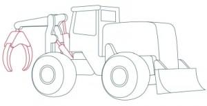 Как нарисовать машину. Трактор поэтапно в 10 шагов 6
