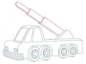 Как нарисовать Автомобильный Кран поэтапно в 10 шагов 7