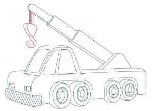 Как нарисовать Автомобильный Кран поэтапно в 10 шагов 8