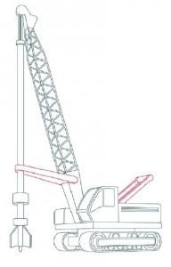 Как нарисовать Буровую машину поэтапно в 11 шагов 8