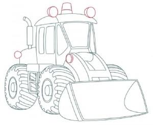 Как нарисовать Снегоуборочную машину поэтапно в 9 шагов 9