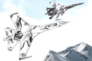 Как нарисовать самолет поэтапно в 6 шагов 1