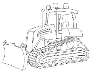Как рисовать машины. Бульдозер поэтапно в 11 шагов 12