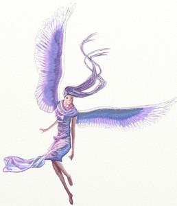 Как нарисовать Ангела поэтапно в 6 шагов 1