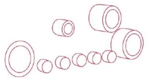 Как рисовать машины. Бульдозер поэтапно в 11 шагов 2