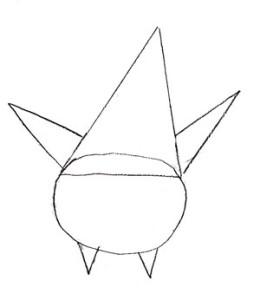 Как нарисовать Патрика поэтапно в 5 шагов 2