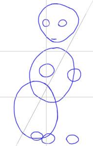 Как нарисовать Кошку поэтапно в 5 шагов 2