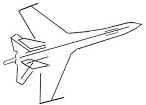 Как нарисовать самолет поэтапно в 6 шагов 3