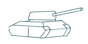 Как нарисовать Танк поэтапно в 7 шагов 3