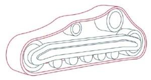 Как рисовать машины. Бульдозер поэтапно в 11 шагов 4