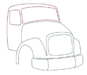 Как рисовать машины. Самосвал поэтапно в 11 шагов 4