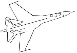 Как нарисовать самолет поэтапно в 6 шагов 4