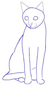 Как нарисовать Кошку поэтапно в 5 шагов 4