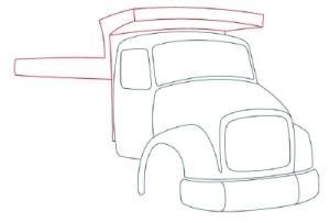 Как рисовать машины. Самосвал поэтапно в 11 шагов 5