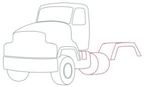 Как рисовать машины. Цементовоз поэтапно в 10 шагов 5