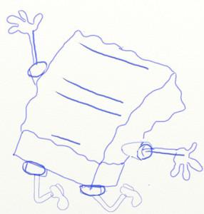 Как нарисовать Спанч Боба поэтапно в 6 шагов 5