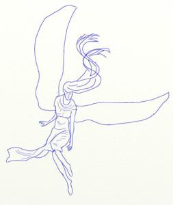 Как нарисовать Ангела поэтапно в 6 шагов 5
