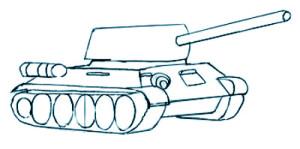 Как нарисовать Танк поэтапно в 7 шагов 5