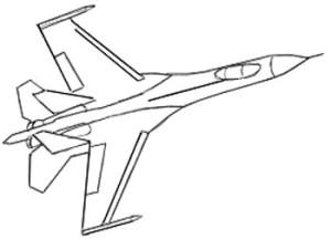 Как нарисовать самолет поэтапно в 6 шагов 6