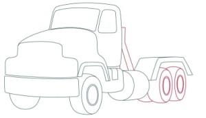 Как рисовать машины. Цементовоз поэтапно в 10 шагов 6